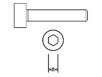 Zylinderschraube Niro M1,6